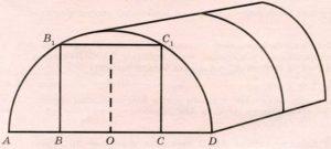 Сергей Петрович решил построить на дачном участке теплицу длиной 4 м.