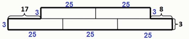 Решение №964 Женя сложил из пяти одинаковых прямоугольников фигуру и измерил длины трёх отрезков ...