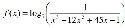Найдите наибольшее значение функции f(x)=log7 (1/x^3-12x^2+45x-1)