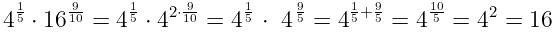 Решение №527 Найдите значение выражения 4^(1/5)*16^(9/10)