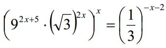 Решите уравнение (9^(2x+5)*(√3)^2x)^x=(1/3)^(-x-2)