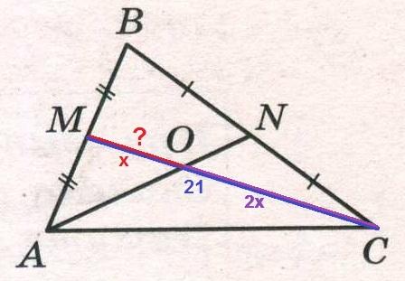 Решение №1105 Точки М и N являются серединами сторон АВ и ВС треугольника АBС соответственно.