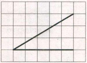 На клетчатой бумаге с размером клетки 1х1 изображён угол.