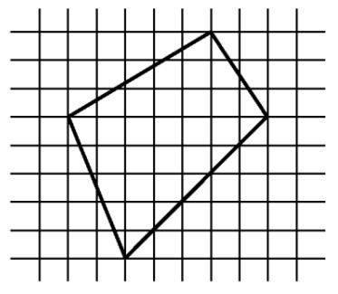 Найдите площадь фигуры, изображенной на клетчатой бумаге с размером клетки 1 см х 1 см (cм. рис.).
