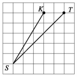Найдите тангенс угла KST (cм. рис.)