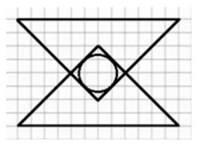 Площадь каждого большого треугольника на рисунке составляет 594.
