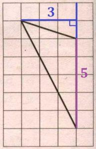 Решение №1226 На клетчатой бумаге с размером клетки 1x1 изображён треугольник. Найдите его площадь.