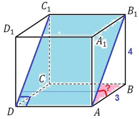 Решение №1301 В правильной четырехугольной призме ABCDA1B1C1D1 сторона основания равна 3, а высота – 4.