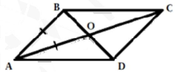 Диагонали параллелограмма ABCD пересекаются в точке O, AB = AO, ∠ABO = 70°