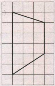 На клетчатой бумаге с размером клетки 1х1 изображена трапеция. Найдите её площадь.