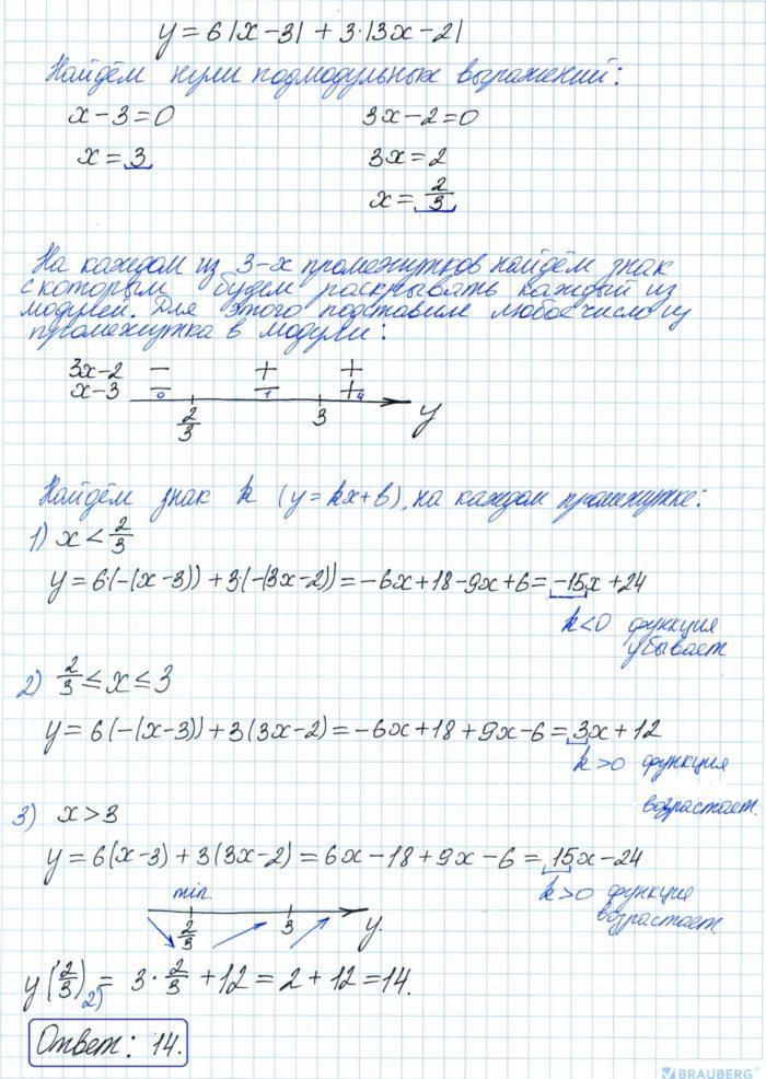 Найдите наименьшее значение функции y = 6·x – 3 + 3·3x – 2