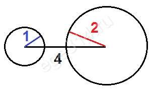Треугольника со сторонами 1, 2, 4 не существует.