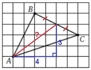 Решение №1359 На клетчатой бумаге с размером клетки 1х1 изображен треугольник АВС.