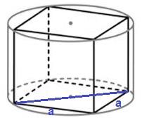 Решение №1379 Куб вписан в цилиндр, площадь основания которого равна 72π.