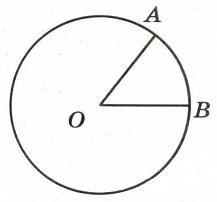 На окружности с центром О отмечены точки А и В так, что ∠АОВ = 45°.