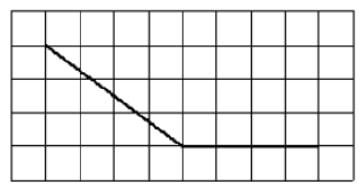 На клетчатой бумаге с размером клетки 1х1 изображен угол.