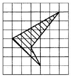 На клетчатой бумаге с размером клеток 1см х 1см изображен четырехугольник (см. рисунок).