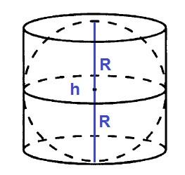 Шар вписан в цилиндр. Объем шара равен 2021.