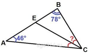 В треугольнике ABC проведена биссектриса CE.