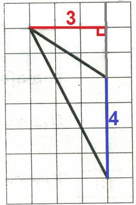 На клетчатой бумаге с размером клетки 1х1 изображён треугольник. Найдите его площадь.