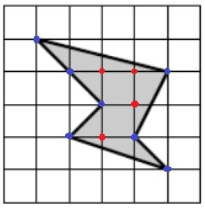 На клетчатой бумаге со стороной клетки 1х1 изображён шестиугольник. Найдите его площадь.