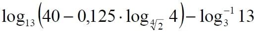 Решение №1579 Найдите значение выражения log13 (40-0,125*log4√2 4)-(log3 13)^-1
