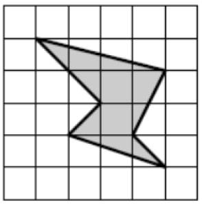 На клетчатой бумаге со стороной клетки 1х1 изображён шестиугольник.