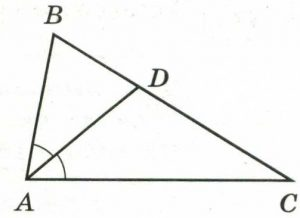 В треугольнике АВС ∠ВАС = 48°, АD – биссектриса.