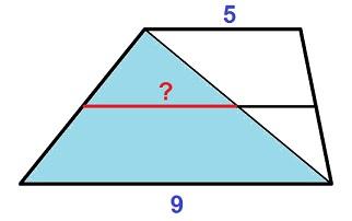 Решение №1630 Основания трапеции равны 5 и 9.