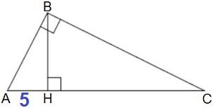 Точка H является основанием высоты, проведённой из вершины прямого угла В треугольника ABС
