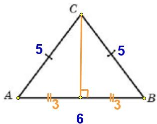 Решение №1969 Боковая сторона равнобедренного треугольника равна 5, а основание равно 6.