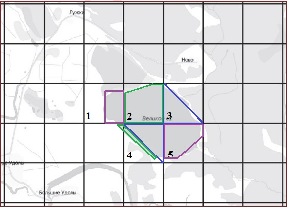 Решение №1956 На рисунке изображён план местности (шаг сетки плана соответствует расстоянию 1 км на местности).