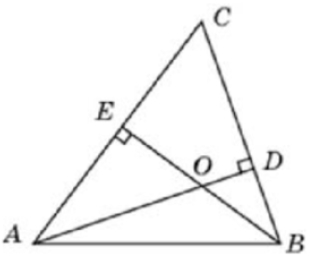 Два угла треугольника равны 53° и 48°. Найдите тупой угол, который образуют высоты треугольника, выходящие из вершин этих углов.