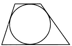 Около окружности описана трапеция, периметр которой равен 64. Найдите длину её средней линии.