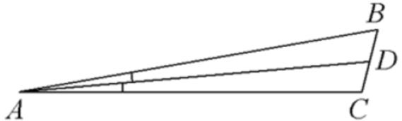 В треугольнике 𝐴𝐵𝐶 𝐴𝐷− биссектриса, угол 𝐶 равен 104°, угол 𝐶𝐴𝐷 равен 5°. Найдите угол 𝐵. Ответ дайте в градусах.