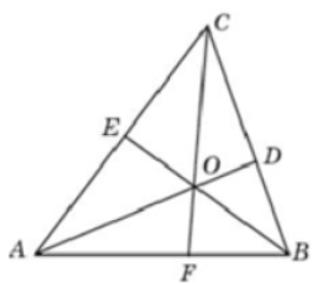В треугольнике 𝐴𝐵𝐶 угол 𝐴 равен 21°, угол 𝐵 равен 81°. 𝐴𝐷, 𝐵𝐸 и 𝐶𝐹 − высоты, пересекающиеся в точке 𝑂. Найдите угол 𝐴𝑂𝐹. Ответ дайте в градусах.