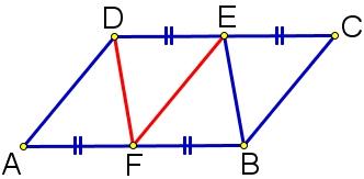 Площадь параллелограмма 𝐴𝐵𝐶𝐷 равна 155. Точка 𝐸 – середина стороны 𝐶𝐷.