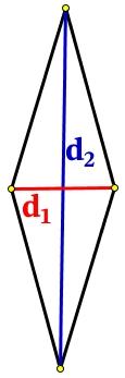 Диагонали ромба равны.