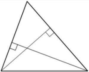 Две стороны треугольника равны 21 и 28. Высота, опущенная на большую из этих сторон, равна 15.