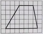 На клетчатой бумаге с размером клетки 1х1 изображена трапеция. Найдите длину её средней линии.