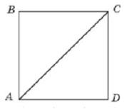 Найдите площадь квадрата, если его диагональ равна 1.