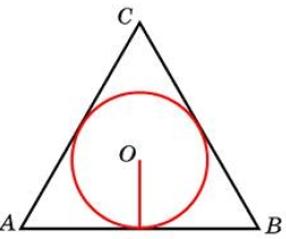 Сторона правильного треугольника равна 6√3. Найдите радиус окружности, вписанной в этот треугольник.