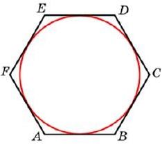 Найдите сторону правильного шестиугольника, описанного около окружности, радиус которой равен 10√3.