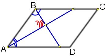 Найдите угол между биссектрисами углов параллелограмма, прилежащих к одной стороне.