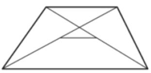 Основания трапеции равны 27 и 83. Найдите отрезок, соединяющий середины диагоналей трапеции.