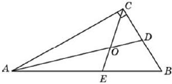 Острый угол прямоугольного треугольника равен 56°. Найдите острый угол, образованный биссектрисами этого и прямого углов треугольника. Ответ дайте в градусах.