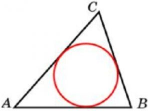 Периметр треугольника равен 76, а радиус вписанной окружности равен 8. Найдите площадь этого треугольника.