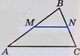 Прямая, параллельная стороне АС треугольника АВС, пересекает стороны АВ и ВС в точках М и N соответственно, АС = 44' МN = 24.