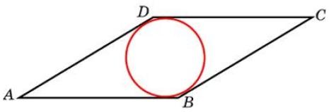 Сторона ромба равна 20, острый угол равен 30°. Найдите радиус вписанной окружности этого ромба.