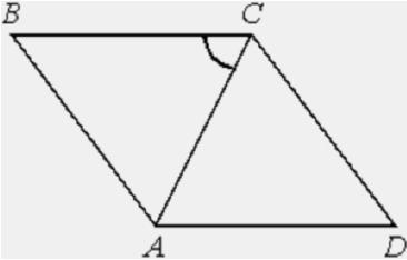 Решение №2012 Угол между стороной и диагональю ромба равен 54°.